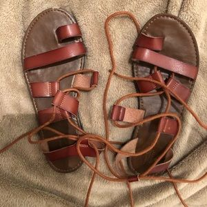 Mossimo Brand brown sandals